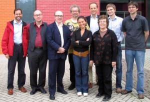 """Mit Kollegen der Arbeitsgruppe """"Hollywood Europa"""" 2007 in Portsmouth"""