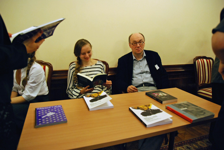 Mit Ewa Ciszewska, Universität Lodz 2013