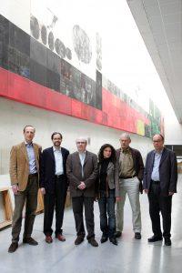 """Mit Kollegen der Arbeitsgruppe """"Hollywood Europa"""" in Pamplona 2006"""
