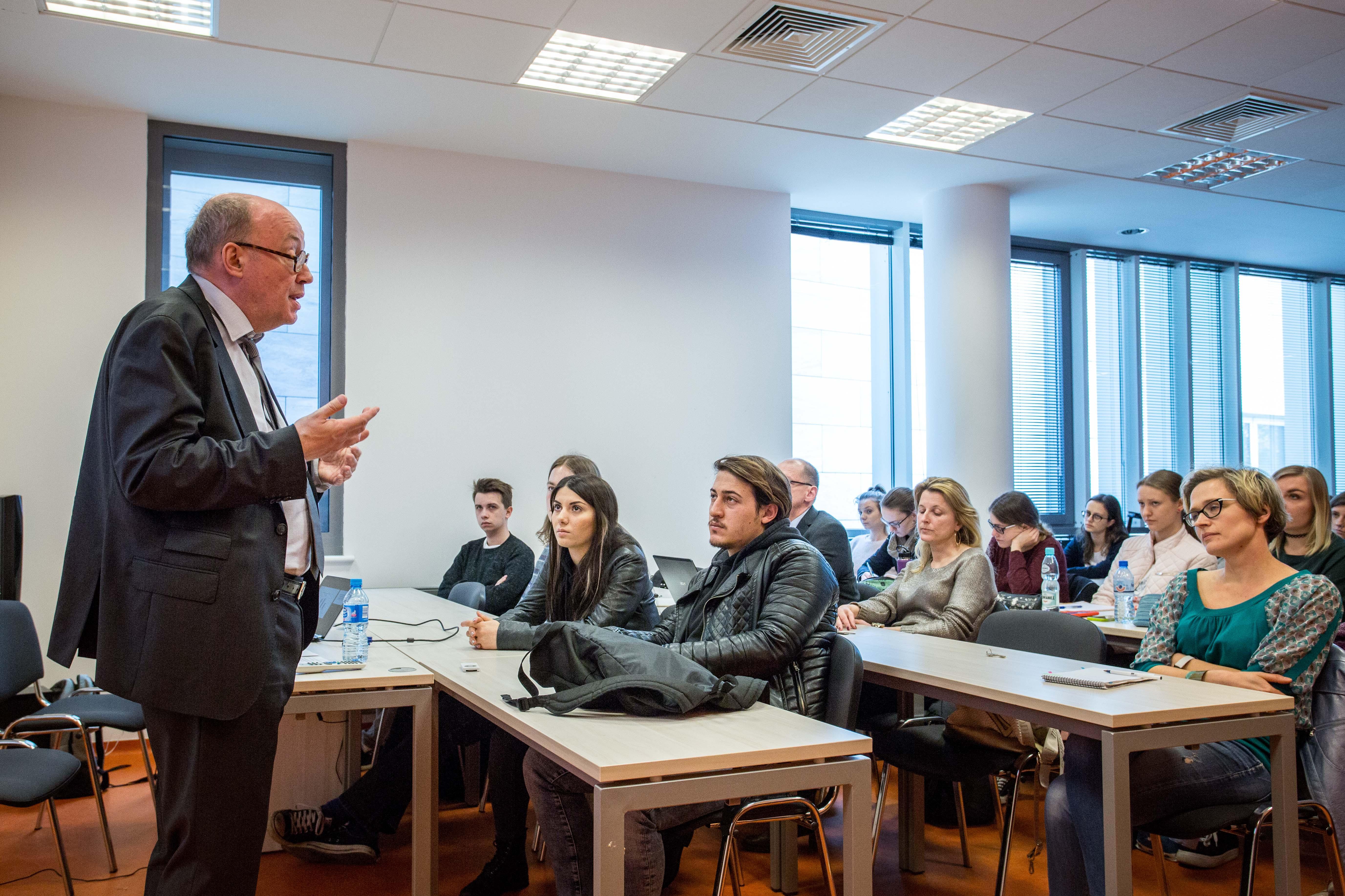 Vorlesung an der Universität Lodz 2018